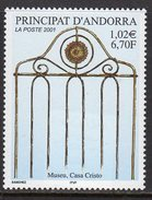 Andorra French 2001 Casa Cristo Museum, MNH (A)