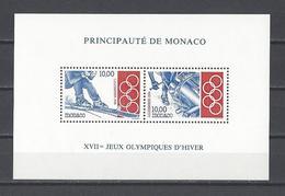MONACO . YT Bloc 63 Neuf ** Jeux Olympiques D'hiver à Lillehammer 1994