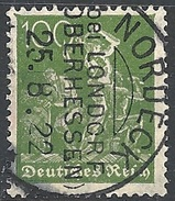 Germania  - 1922 Fabbro 100p Verde Oliva F. 2 # Michel 187 - Scott 172 - Unificato 170 -  Usato - Gebraucht