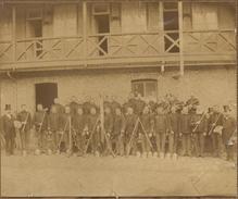 SAPEURS-POMPIERS - Vieille Photo Vers 1870 - Photos