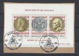 MONACO . YT Bloc 66 Obl  Inauguration Du Musée Des Timbres Et Des Monnaies 1994