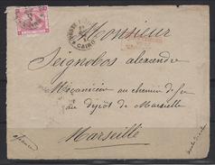 Cairo Par Paquebot Pour Marseille ( Devant De Lettre ) - 1866-1914 Khedivate Of Egypt