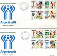 Rwanda 1978, World Football Cup, 2FDC - 1978 – Argentine