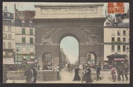 D 75 - PARIS - Porte Saint-Martin - Colorisée - Arrondissement: 02