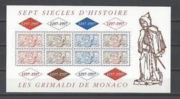 MONACO . YT Bloc 75 Neuf ** Sceau Du Prince 1997