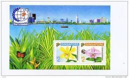 SINGAPOUR-1992-Orchidées- Papillon-Expo Singapour 95-YT B27***MNH