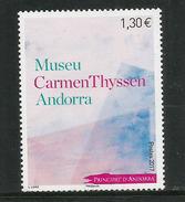 ANDORRA.Museo Carmen Thyssen Andorra (Claude Monet, Henri Matisse, Paul Gauguin, Alfred Sisley) Un Timbre Neuf **