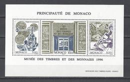 MONACO . YT Bloc 73 Neuf ** Musée Des Timbres Et Des Monnaies 1996