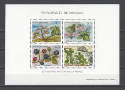 MONACO . YT Bloc 74 Neuf ** Les Quatre Saisons De La Ronce  1996