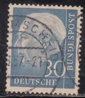 30pf  Fine Used, (Large Size), 1954, Pres Theodor Heuss, Deutschland Germany, Bunderpost, (sample Image)