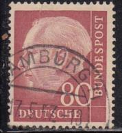 80pf Fine Used, (Large Size), 1954, Pres Theodor Heuss, Deutschland Germany, Bunderpost, (sample Image)