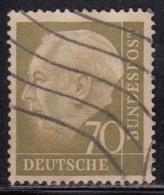 70pf Fine Used, (Large Size), 1954, Pres Theodor Heuss, Deutschland Germany, Bunderpost, (sample Image)
