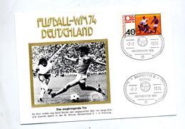 Lettre Cachet Munich Championne Du Monde Football 1974