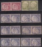 1Dm X 1 Pair, 2Dm X 6 Pairs, 3Dm X 1 Pair , 1954 Used, Pres Theodor Heuss, Deutschland Germany, Bunderpost,