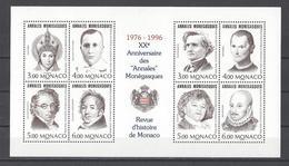 """MONACO . YT Bloc 72 Neuf ** 20e Anniversaire Des """"Annales Monégasques"""" 1996"""