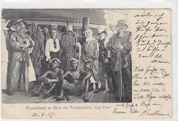 "Postdampfer ""Cap Frio"" - Aequatortaufe An Bord - 1907     (A-20-110319) - Steamers"