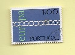 TIMBRES - STAMPS - PORTUGAL - 1971 - EUROPE CEPT - TIMBRE OBLITÉRÉ