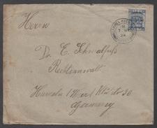 PALESTINE - HAIFA - CARMEL AVENUE - ISRAEL / 1924 LETTRE POUR L ALLEMAGNE (ref LE1031) - Palestine