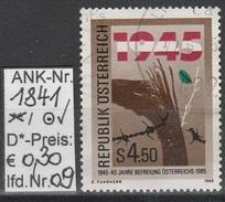 """26.4.1985  -  SM  """"40 Jahre Befreiung Österreichs""""   -  O  Gestempelt - Siehe Scan  (1841o 09)"""