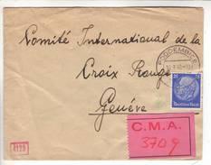 Lettre Obl Poddembice 10.09.1940 Avec étiquette C.M.A. -> CICR Genève - Censure / Censored / Zensur D