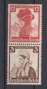 Deutsches Reich / Deutsche Nothilfe: Volkstrachten / MiNr. 588, 593 - Deutschland