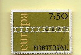 TIMBRES - STAMPS - PORTUGAL - 1971 - EUROPE CEPT - TIMBRE OBLITÉRÉ CLÔTURE DE SÉRIE