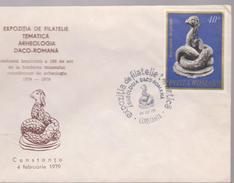 COVER Achaeology ROMANIA-The PHILATELIC EXHIBITION THEME ARGEOLOGICA DACO-ROMANIAN CONSTANTA 1979