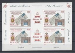 "MONACO . YT Bloc 81 Neuf ** ""Monaco 99"". Exposition Philatélique Internationale 1999"