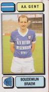 Panini Football 83 Voetbal Belgie Belgique 1983 Sticker AA KAA Gent La Gantoise Nr. 123 Boudewijn Braem - Sport