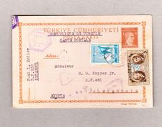 Türkei Istambul 21.5.1945 Ganzsache Mit Zusatzfrankatur Und Zensur Nach Egypten - 1921-... République