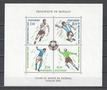 MONACO . YT Bloc 21 Neuf ** Coupe Du Monde De Football à Madrid 1982