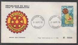 ROTARY INTERNATIONAL / 1970 MALI ENVELOPPE FDC ILLUSTREE (ref LE1027)