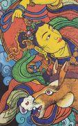 Art - Harmonious Space Series I, Jampa (Tibetan Woodcut) Of Zeren Jiu - Tibet