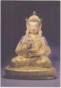 China - Gilt Copper Seated Statue Of Padmasambhava, Tibetan Buddhist Relics Exhibition, Macau Art Museum - Tibet