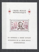 MONACO . YT Bloc 15 Neuf ** Croix-Rouge Monégasque. 150e Anniversaire De La Naissance D'Henri Dunant 1978