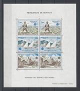 MONACO . YT Bloc 17 Neuf ** Histoire Des Servives Des Postes 1979
