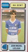 Panini Football 83 Voetbal Belgie Belgique 1983 Sticker AA KAA Gent La Gantoise Nr. 128 Jean-Michel Lecloux - Sport