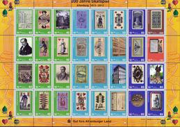 Deutschland SafeMail Klb. '200 Jahre Skat, Spielkarten' / Germany 'Bicent. Of Skat, Skat Playing Cards' **/MNH 2012