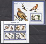B16 2010 TOGOLAISE FAUNA BIRDS LES RAPACES 1KB+1BL MNH