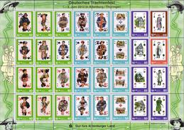 Deutschland SafeMail Klb. 'Trachtenfest, Spielkarten' / Germany 'Traditional Costumes Playing Cards' **/MNH 2011