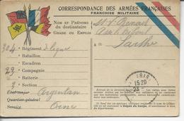 Correspondance Des Armées Françaises FM Du 304°de Ligne à Argentan >> Assé Le Riboul 1914