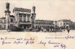 BRESLAU - Central-Bahnhof, Gel.1905 - Polen