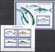 B18 2010 TOGOLAISE FAUNA FISH & MARINE LIFE LES POISSONS 1KB+1BL MNH