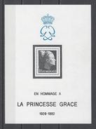 MONACO . YT Bloc 24 Neuf ** Hommage à La Princesse Grace 1983