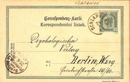 Austria KK 1903 ... BA941 Slapanov > Berlin