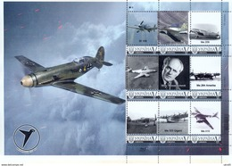 Ukraine 2016, Aviation, Messerschmitt War Planes, Sheetlet