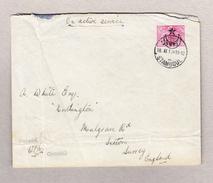 Türkei Stamboul 18.11.191? Ganzsachenbrief (als Dienst Oder Militärbrief) Zensuriert Nach Surrey GB - 1858-1921 Empire Ottoman