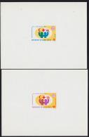 Upper Volta 1972 Red Cross. Set Of 2 Deluxe Proofs. Scott 271-2. Yvert 267-8. - Obervolta (1958-1984)