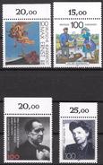 Bund 1991 / MiNr.   1569 , 1570 , 1574 , 1575  Oberränder    ** / MNH   (e564)