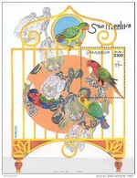 MDB-BK1-059 MINT ¤ SOMALIA 1999 BLOCK ¤ PARROTS - OISEAUX - BIRDS - PAJAROS - VOGELS - VÖGEL -